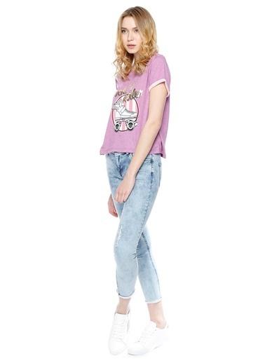 T-Box Tişört Lila